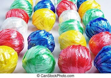 Colorful Plastic Rope Ball - Colorful Ball Creativity by...