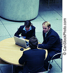 business planning - small group of business people...