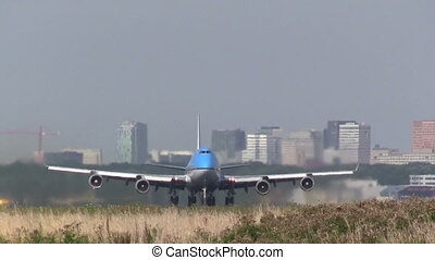 Close up, jumbojet taking off - This is high quality plane...