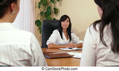 Businesswomen in Office - Business Women Discussing In A...
