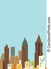 Atlanta Cartoon Skyline