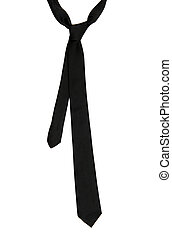Black tie isolated on the white background