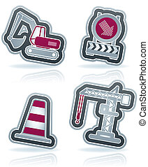 Heavy Industry - 4 icons from Construction Industry theme,...