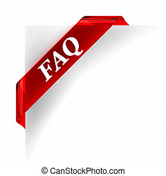 FAQ Red Banner - Red glass top banner. Part of a series.