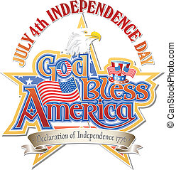 God Bless America Vector
