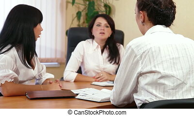 Business Meeting - Business Women Discussing In A Meeting
