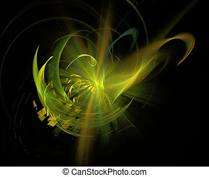 Abstract Fractal Art Space Twirl Explosion Object