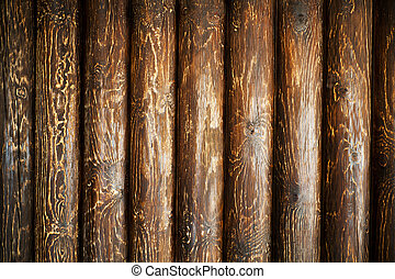 Weathered wooden logs, old textured wood
