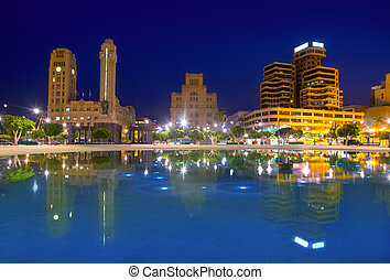 Santa Cruz de Tenerife at Plaza de Espana night - Blue night...