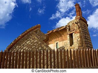 Coastal tower castillo de San Andres castle in Tenerife...