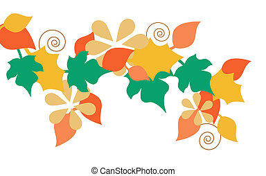 autumn garland - illustration of a garland made from...