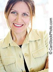 Portrait of a mature woman - Portrait of a mature smiling...