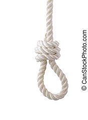 noose - whote rope noose