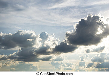 rain clouds in sky , cloudscape