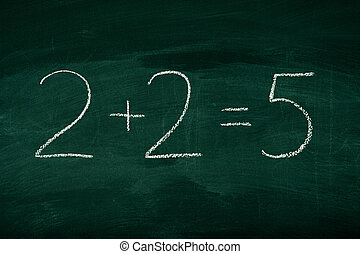 Mistake in math on chalkboard - Mistake in math formula on...