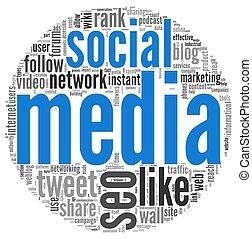 Social media in tag cloud