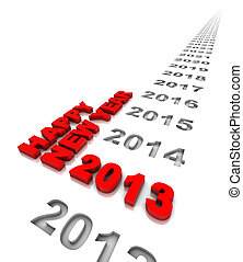 Happy New Year 2013 - New year 2013 and the years ahead Part...