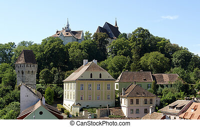 Sighisoara - scenery in Sighisoara, a city in Transylvania...