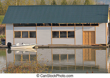 boat house on the river