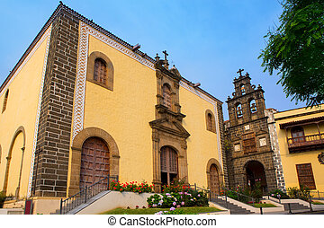 La Orotava San Agustin church in Tenerife at Canary Islands