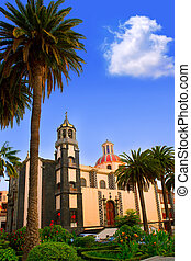 La Orotava Concepcion church red dome in Tenerife Canary...