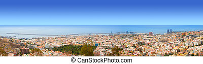 Aerial of Santa Cruz de Tenerife panoramic