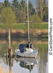 sail boat tied up