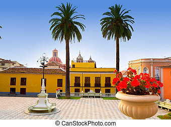 Ayuntamiento square in La Orotava Tenerife at Canary Islands