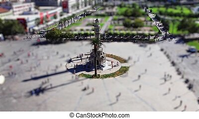 konak square - miniature effect konak square at Smyrna...