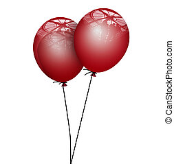 red ballons
