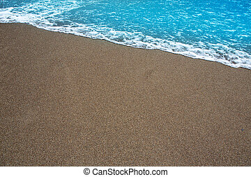 beach tropical with brown sand and clear water - beach...