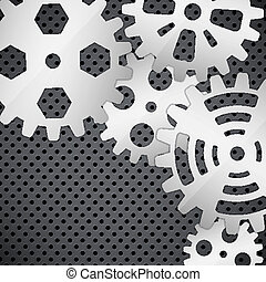 Abstract background with gears on c