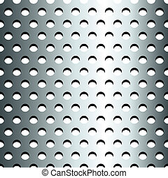 Seamless stainless metallic grid pattern