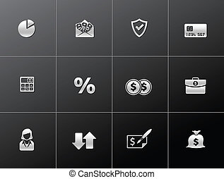 Metalic Icons - More Finance - Finance icon series in...