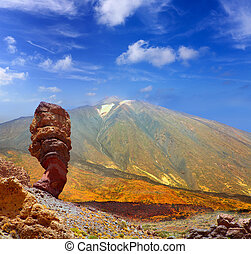 Teide National Park Roques de Garcia in Tenerife at Canary...