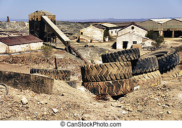 Mining industry, Abandoned mines of Tharsis, Huelva - Spain