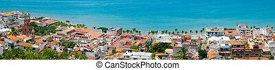 Puerto Vallarta - Panorama shot of Downtown Puerto Vallarta,...
