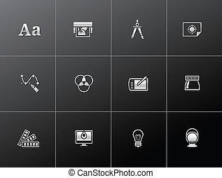 Metallic Icons - Graphic Design