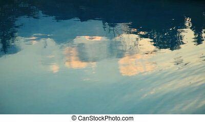water reflection
