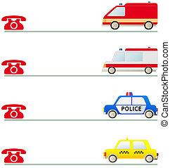 sinal, móvel, social, primeiro, ajuda