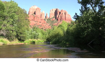 Cathedral Rock Sedona Arizona - a scenic of cathedral rock...