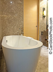 Bathtub - Modern bathtub in the bathroom