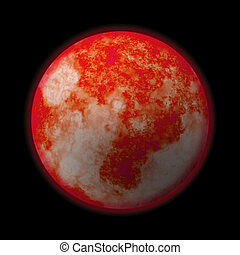 space planet - A red hot glowing planet - it works well as...