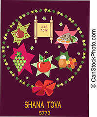 shana tova, holiday background. - holiday background with...