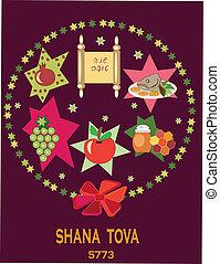 shana tova, holiday background. - holiday background with...