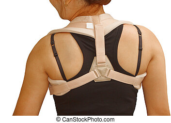 woman wearing clavicle brace - clavicle brace ,clavicle...