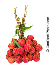a bunch of Lychee fruits ,freshly delicious Lychee fruits -...