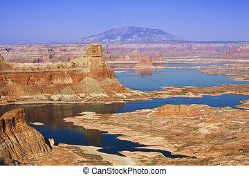 Lake Powell - Gunsight Butte on the Utah side of Lake Powell...