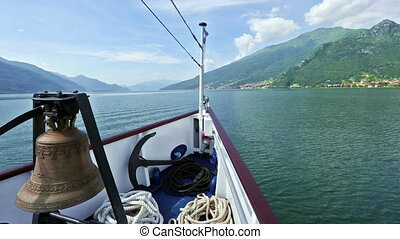 Lake Como Italy view from ship - Lake Como Italy summer view...