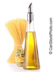 bottle olive oil and pasta